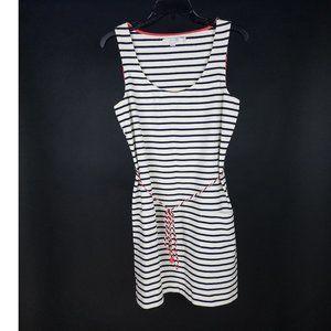 Boden Navy Blue Ivory Stripe Shoreline Tunic Dress